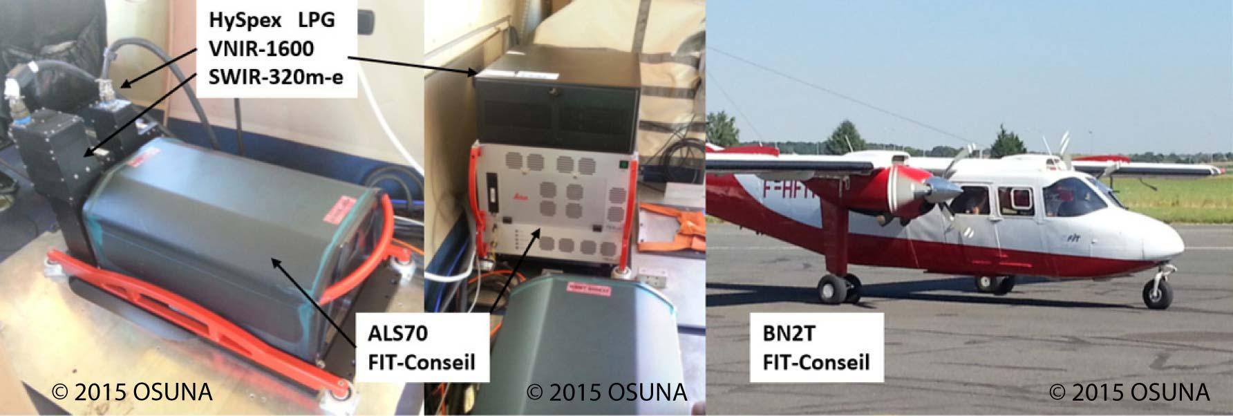 capteurs et avion