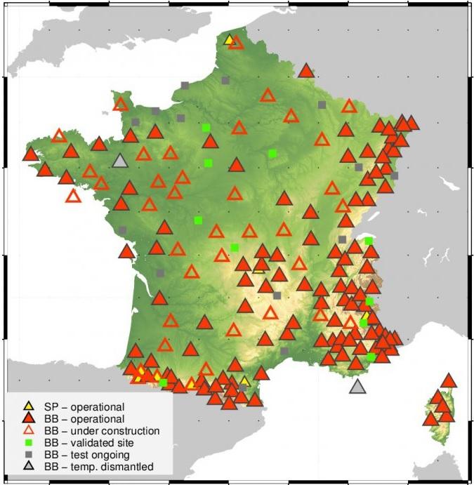 Carte du réseau RLBP