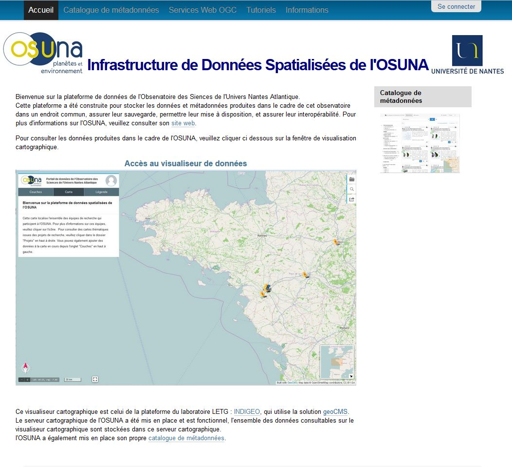 page d'accueil IDS