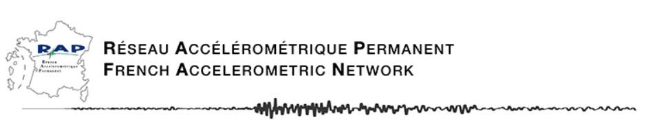 Réseau Accélérométrique Permanent