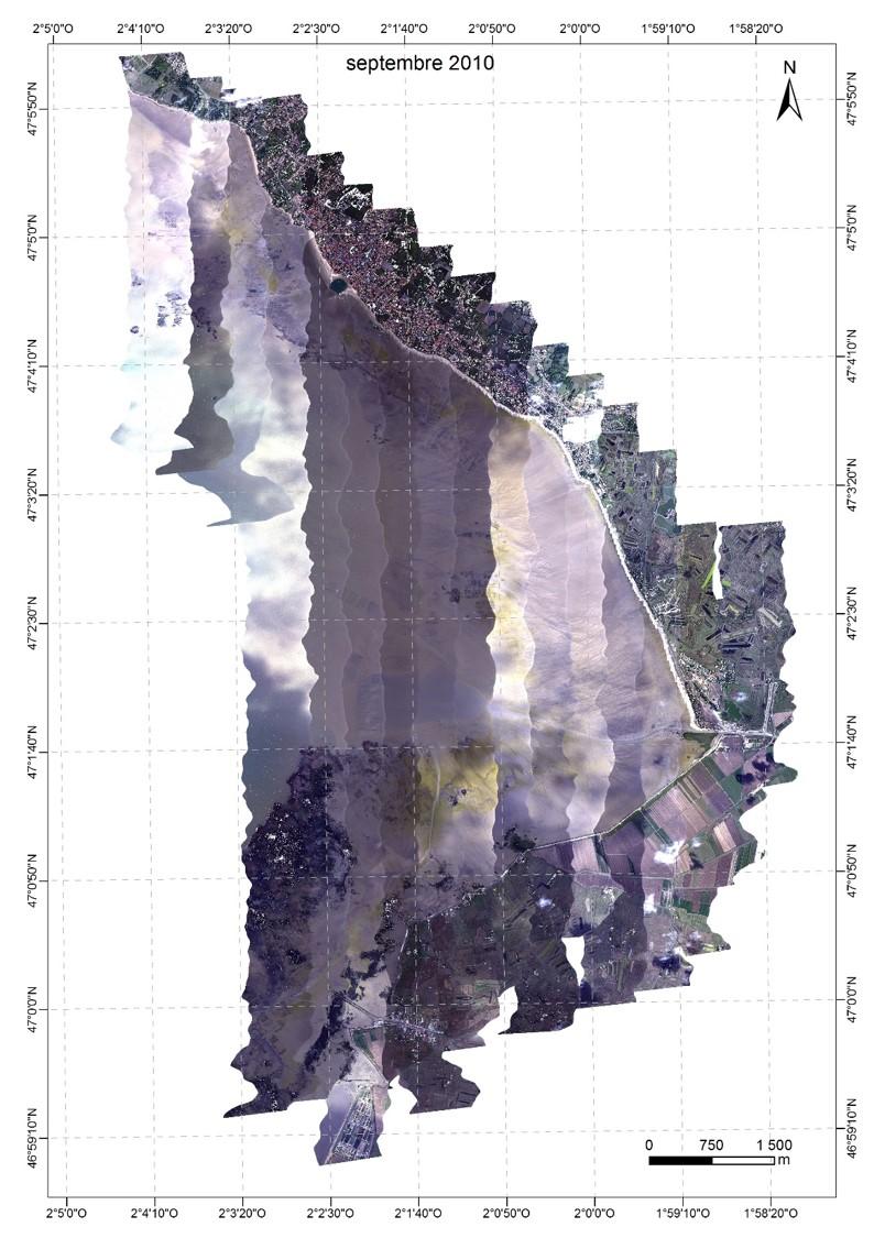 image en vraies couleurs Baie de Bourgneuf septembre 2010