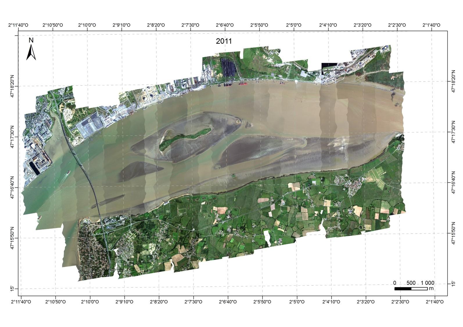 image en vraies couleurs estuaire de la Loire 2011
