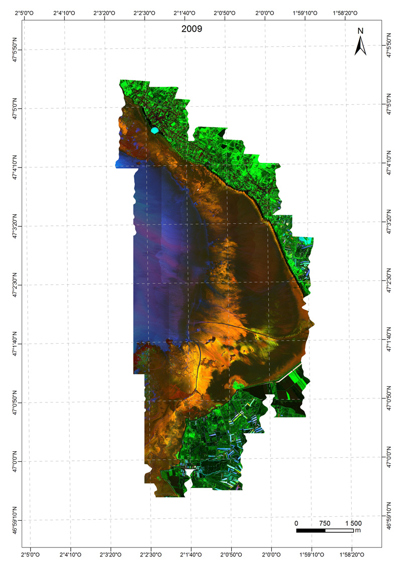 indice du microphytobenthos Baie de Bourgneuf 2009