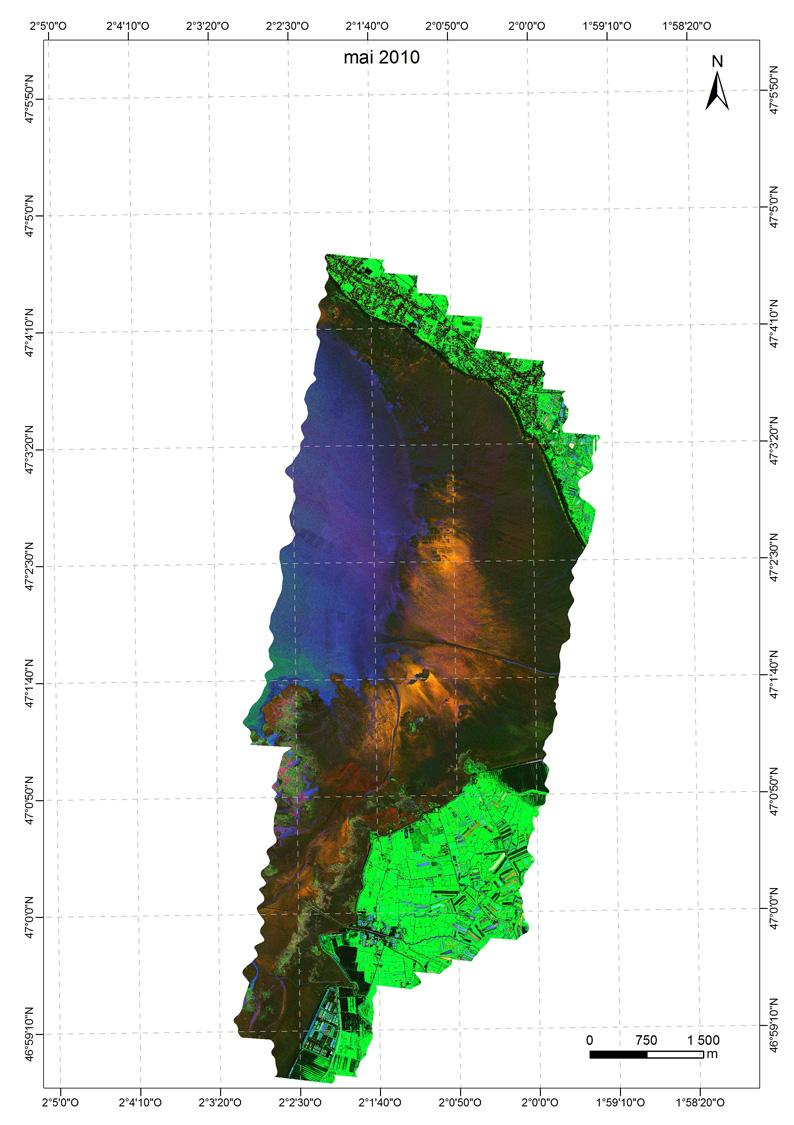 indice du microphytobenthos Baie de Bourgneuf 052010